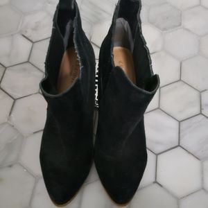 Used crown vintage suede booties